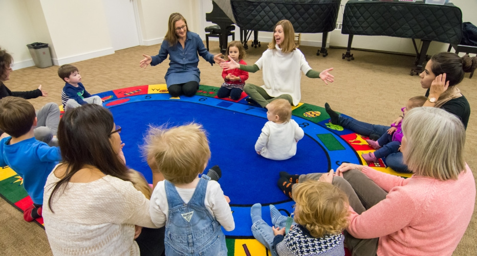 Music Pups class for babies, toddlers, preschoolers