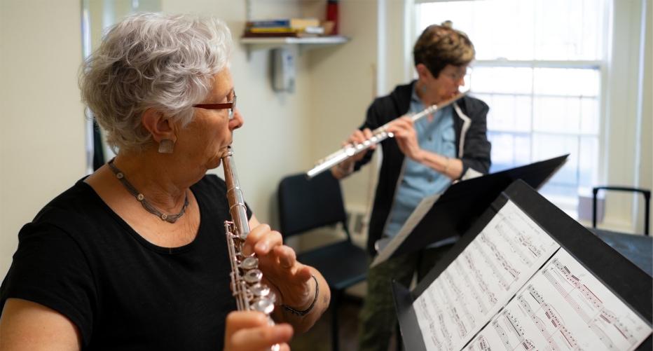 Adult flute student 2