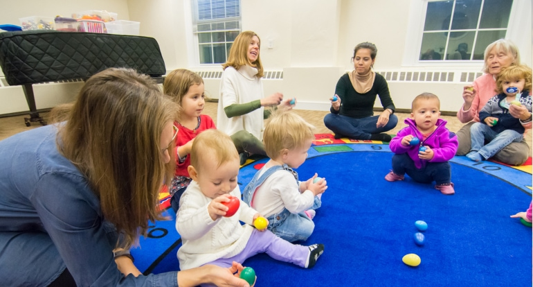 Music Pups class for babies, toddlers, preschool